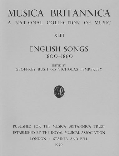 English Songs 1800-1860