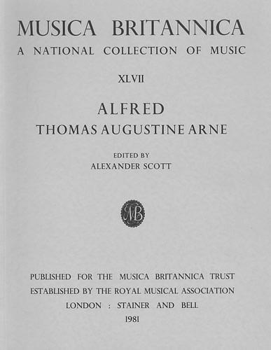 Arne, Thomas: Alfred