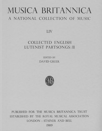 Collected English Lutenist Partsongs II