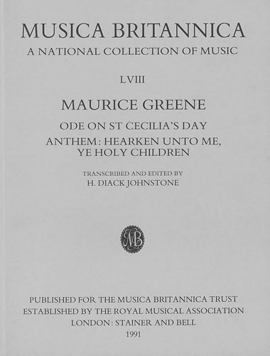 Greene, Maurice: Ode On St Cecilia's Day And Anthem: Hearken Unto Me