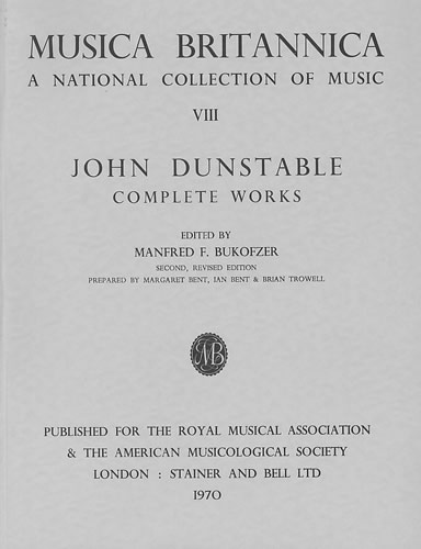 Dunstable, John: Complete Works