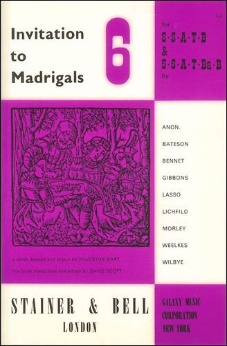 Invitation To Madrigals Book 6