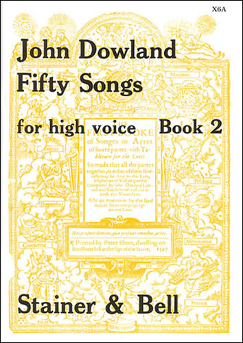 Dowland, John: Fifty Songs. Book 2. High Voice