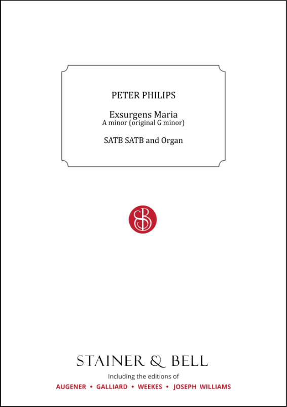 Philips, Peter: Exsurgens Maria. A Minor (orig. G Minor)