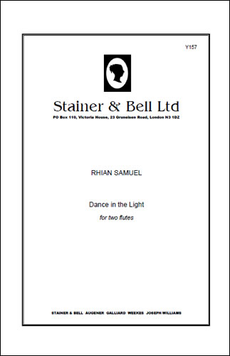 Samuel, Rhian: Dance In The Light For Two Flutes. Score