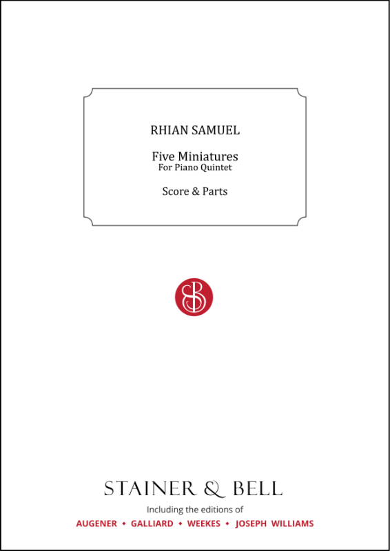 Samuel, Rhian: Five Miniatures For Piano Quintet