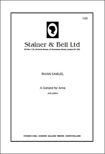 Samuel, Rhian: A Garland For Anne. Solo Piano