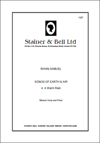 "Samuel, Rhian: A Warm Rain. Medium Voice And Piano (No. 4 Of ""Songs Of Earth And Air"")"