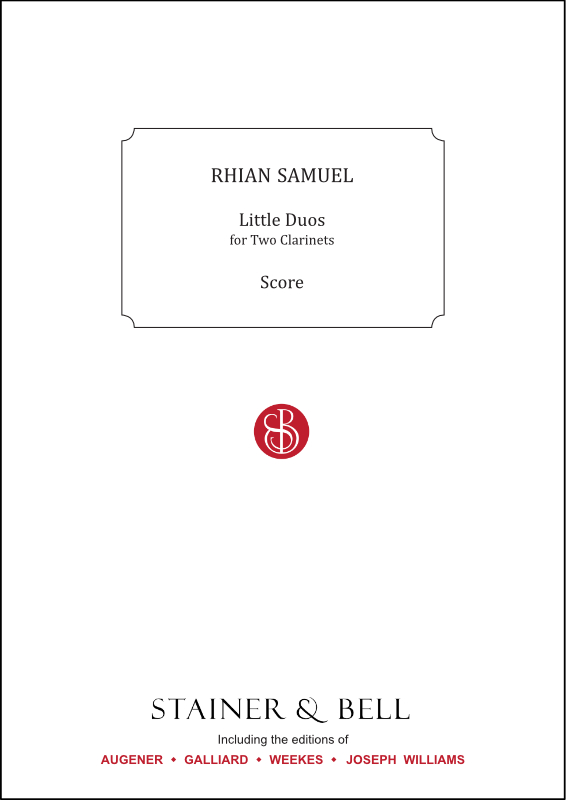 Samuel, Rhian: Little Duos. Two Clarinets In B Flat.