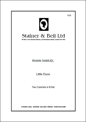 Samuel, Rhian: Little Duos. Two Clarinets In B Flat.