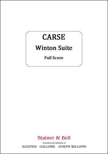 Carse, Adam: The Winton Suite. Score
