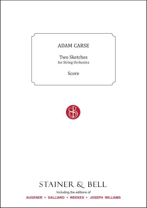 Carse, Adam: Two Sketches For String Orchestra. Score