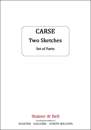 Carse, Adam: Two Sketches For String Orchestra. Parts
