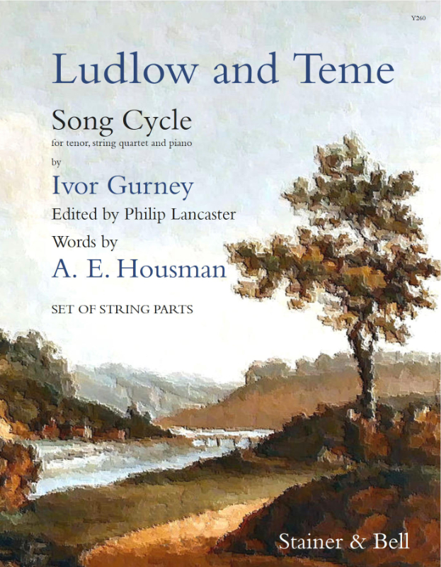 Gurney, Ivor: Ludlow And Teme For Tenor Voice. Set Of String Parts