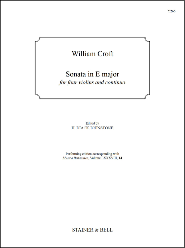 Croft, William: Sonata In E Major For Four Violins And Continuo