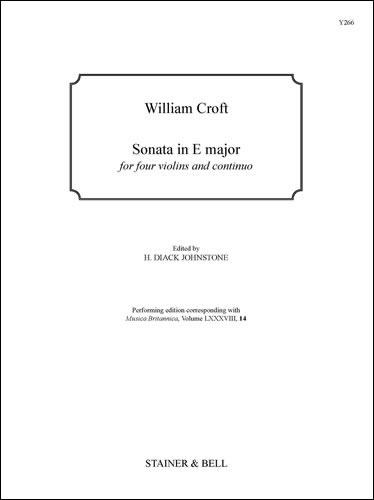 Croft, William: Sonata In E Major For Four Violins And Continuo