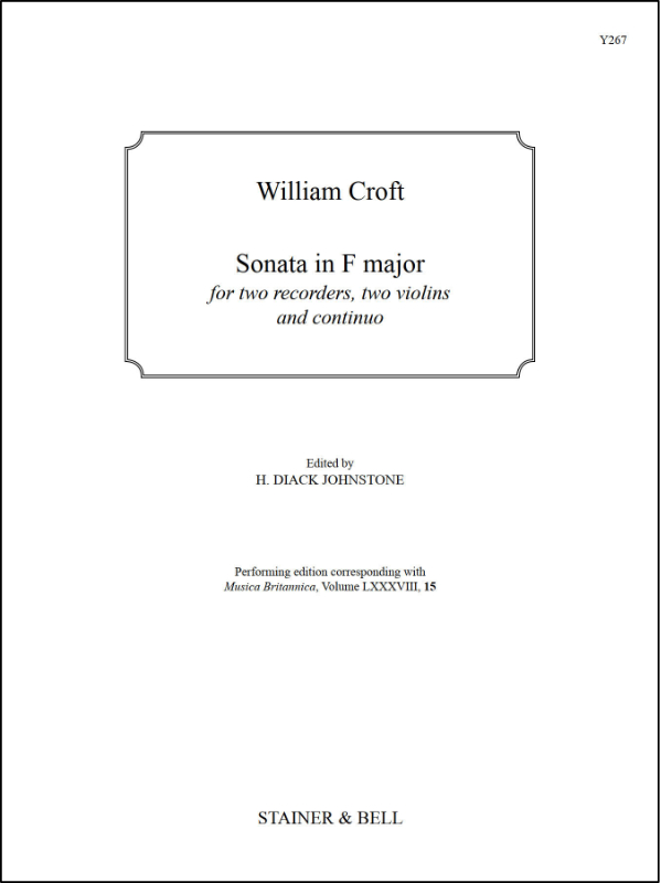 Croft, William: Sonata In F Major For Two Recorders, Two Violins And Continuo