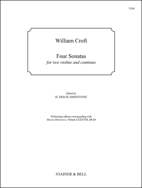 Croft, William: Four Sonatas For Two Violins And Continuo