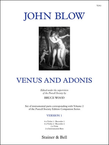 Blow, John: Venus And Adonis. Version 1. Instrumental Parts