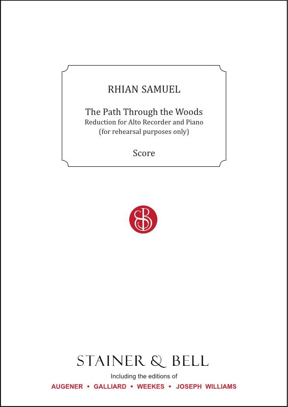 Samuel, Rhian: Path Through The Woods, The. Alto Recorder & Piano