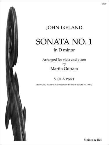Ireland, John: Sonata No. 1 In D Minor Arr. Viola And Piano. Viola Part