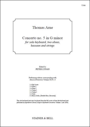 Arne, Thomas: Concerto No. 5 In G Minor