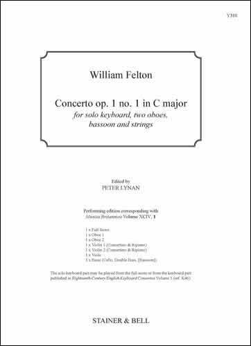 Felton, William: Concerto Op. 1 No. 1 In C Major. Score And Parts