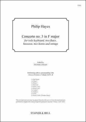 Hayes, Philip: Concerto No. 3 In F Major