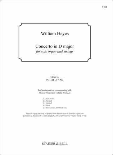 Hayes, William: Concerto In D Major. Score And Parts