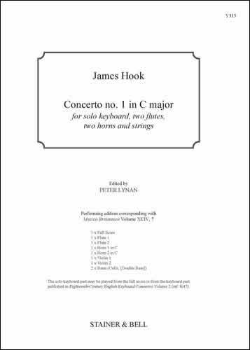 Hook, James: Concerto No. 1 In C Major
