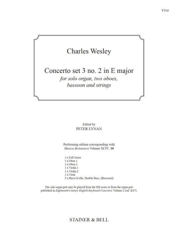 Wesley, Charles: Concerto Set 3 No. 2 In E Major