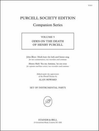 Odes On The Death Of Henry Purcell (Blow & Hall). Parts