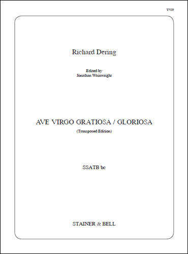 Dering, Richard: Ave Virgo Gratiosa / Gloriosa. SSATB Bc. G (orig. C)