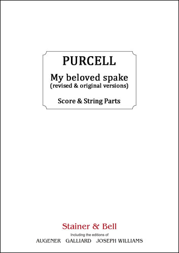 Purcell, Henry: My Beloved Spake (revised And Original Versions). Score & String Parts