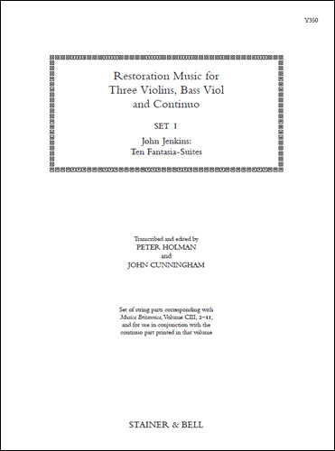 Restoration Music For Three Violins, Bass Viol And Continuo, Set 1