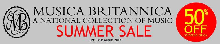 Musica Britannica Summer Sale 2018